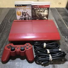 Sony PlayStation 3 Red Slim 500GB Console God Of War Bundle!