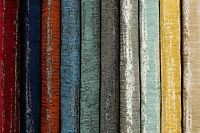 McAlister Textiles Shabby Chic Textured Striped Chenille Upholstery Fabric Metre