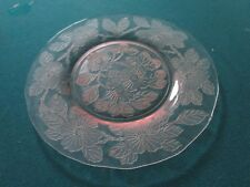 "Dogwood Pink Depression Glass 8"" Plates Apple blossom MacBeth Evans 10 plates"
