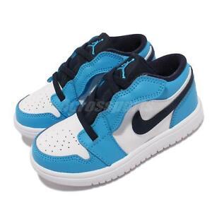 Nike Jordan 1 Low Alt TD Blue White Navy Toddler Infant Casual Shoes CI3436-144