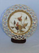Antique 1977 Minton Aesthetic Movement Lattice Japanese Floral Cabinet Plate