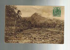 1921 Grenada Real Picture Postcard Cover Duncan's Town Bridge River View