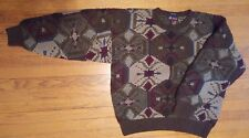 Smith-Forester Hand Knit Men's Wool Sweater Sz M Thick Warm