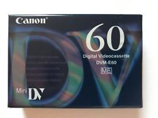 Canon DVM-E60 MiniDV Tape 60 Minutes Sealed Camcorder Digital Videocassette
