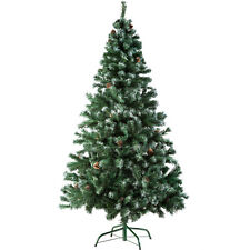 Artificial Christmas Tree + Pine Cones with Stand Xmas 705 Tips 180cm Green new