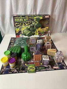 Milton Bradley Incredible Hulk Smash Board Game Marvel - 100% Complete