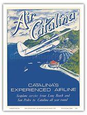 Catalina Island California Magic Isle Steam Boat Vintage Poster Repro FREE S//H