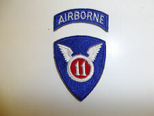b0648 WW 2 Korea US Army 11th Airborne Division patch 2 piece PIR Parachute R3D