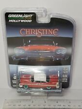 """1/64 GREENLIGHT CHRISTINE 1958 PLYMOUTH FURY """"EVIL VERSION"""" CHASE CAR"""