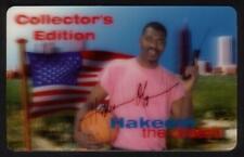 30m Hakeem The Dream 3-D Hologram Hakeem Olajuwon Basketball SPECIMEN Phone Card
