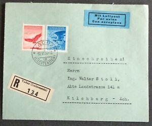 LIECHTENSTEIN 1936: Luftpostbrief Vaduz–Kirchberg, R
