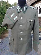 DDR KVP NVA Grenztruppen Uniform Jacke Offizier gestickt 1963