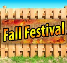 Fall Festival Advertising Vinyl Banner Flag Sign Many Sizes 15 18 30 40 52