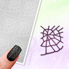 Airbrush + Nailart Stencils mu050 Halloween Spider Web Nets 20 Pcs Adhesive