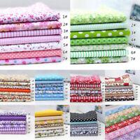 7Pcs/Pack Colourful Cotton Fabric Assorted Pre Cut Bundle 25*25cm