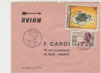 Rep Du Congo 1969 Airmail Mbomo Cancels Lady+Daimler Car Stamps Cover Ref 30710