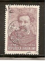 Argentina Stamps-Scott # 481/A177-5c-Canc/LH-1942-NG
