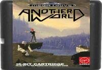 Another World (1991) 16 Bit Game Card For Sega Genesis / Mega Drive System