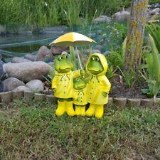 Frosch Familie mit Regenschirm Gartenfigur Gartendekoration Garten GARD212