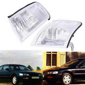 Pair Parking Side Marker Lights Corner Lamp Housings For Honda Accord 1994-1997