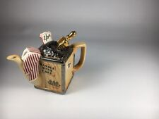 Vintage Paul Cardew Made in England Mini One Cup Tea Scoop Box Teapot
