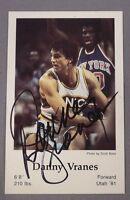 DANNY VRANES signed autograph Seattle Supersonics Police 1983-84