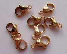 4pz moschettoni  in acciaio inox  12x7mm colore oro bijoux
