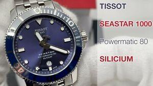TISSOT SEASTAR 1000 POWERMATIC 80 SILICIUM, GEBRAUCHT, RESTGARANTIE, T1204071104