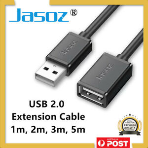 JASOZ® USB Extension Data Cable 2.0 A Male to A Female Long Cord for Laptop PC