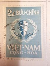 Vietnam Of South, Stamp Yvert 95, Respect Man, Obliterated, VF Used Stamp