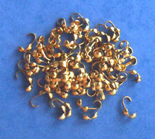 100 gold plated calottes/necklace end fastenings, findings for jewellery making