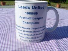 Leeds United 1968/69 Championship team celebration mug 11oz original (brand new)