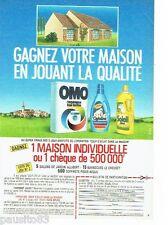 PUBLICITE ADVERTISING 116  1986   Jeu concours Omo Cajoline Soleil Citron