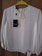 Women's Hobbs Cream pure silk blouse