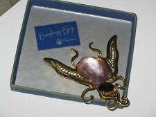 Eisenberg Original GIANT FLY Pin Clip Brooch with Amethyst Crystals 1935-45 RARE