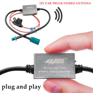 ANT-208 FAKRA Car 12V Stereo FM&AM Radio Inline Antenna Signal Amplifier Booster