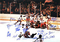 1980 USA Olympics Hockey Team Signed Miracle On Ice 16x20 Photo (18 Autos) - SS