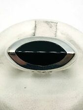 925 Solid Sterling Silver Genuine Natural Black Onyx Ring, Size 6