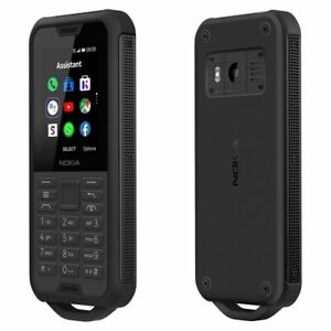 "Nokia 800 Tough 2.4"" Black 4GB 512MB 2100mAh IP68 Rugged Cell Phone By FedEx"
