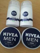 Nivea Men Face 2 X Body Hand Creme 75ml 2 X Stubble Moisturising Gel 2 DAY SALE