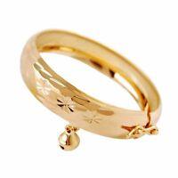 Lovely Children Jewelry Heart Gold Plated Bracelet Bell Baby Kids Bangle