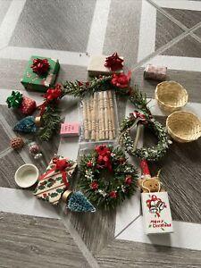 dollhouse miniature christmas lot