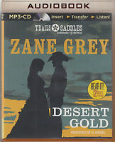 Zane Grey Desert Gold MP3 CD Audio Book Unabridged Western Cowboys FASTPOST