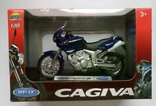 WELLY CAGIVA NAVIGATOR 1000 1:18 DIE CAST MODEL NEW IN BOX LICENSED MOTORCYCLE