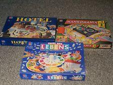 Spielesammlung MB Hotel,Mankomania,Spiel des Lebens  ***RARITÄTEN*** Brettspiele