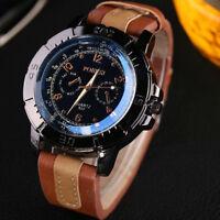 Luxury Men's Watches Analog Quartz Stainless Steel Leather Sport Boy Wrist Watch