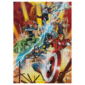 Marvel Comics Iron Man Thor Captain America Hulk 1000 Piece Jigsaw Puzzle