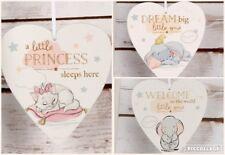 Disney Heart Nursery Decoration Hanging Plaque Marie Dumbo New Baby Gift Box