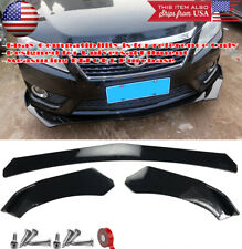 3 Pieces Add On Bumper Lip Spoiler Diffuser Splitter Winglet Wing For VW Porsche
