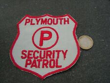 PATCH POLICE ECUSSON COLLECTION  USA   police  plymouth